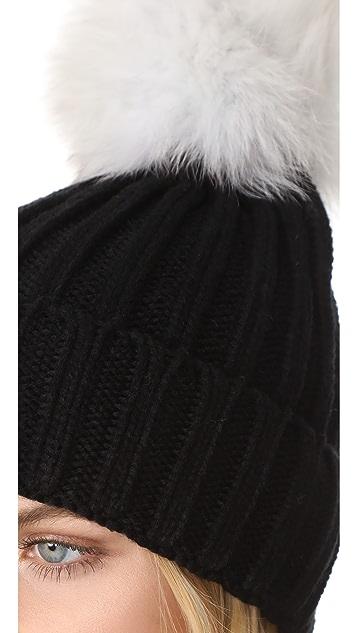 Jocelyn Knit Beanie Pom Hat