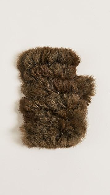 Jocelyn Fingerless Fur Gloves
