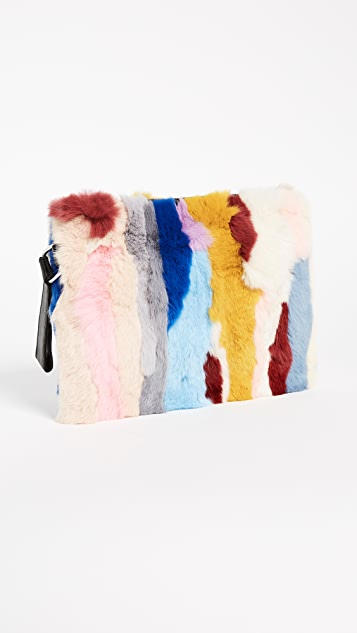 Jocelyn Rex Rabbit Fur Clutch