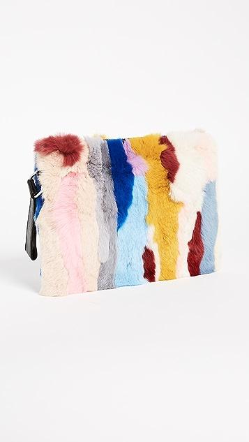 Jocelyn Rex Rabbit Fur Clutch
