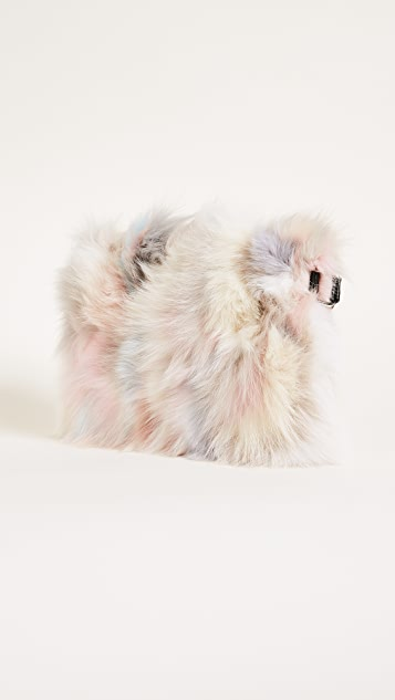 Jocelyn Fox Fur Clutch