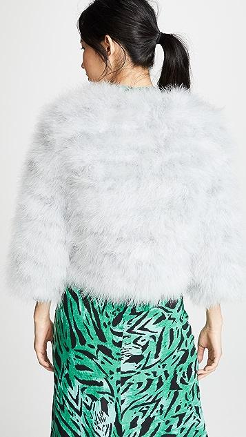 Jocelyn Fifi Dyed Feather Bolero