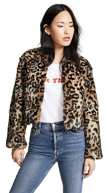 Jocelyn Longhair Rabbit Fur Jacket