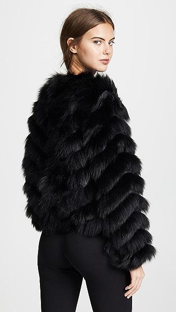 Jocelyn Fox Chevron Reversible Camo Coat