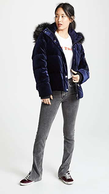 Jocelyn Velvet Down Puffer Jacket