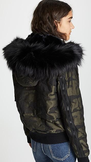 Jocelyn Camo Bomber Jacket