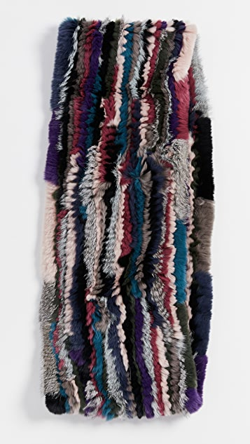 Jocelyn Knitted Fur Infinity Scarf
