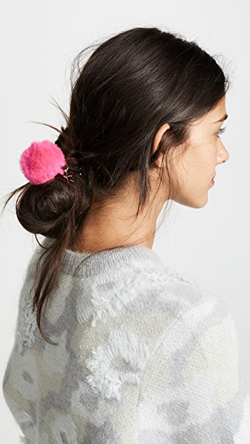 Jocelyn Rex Rabbit Pom Pom Hair Tie