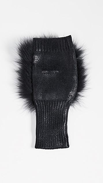 Jocelyn Fingerless Fur Mittens