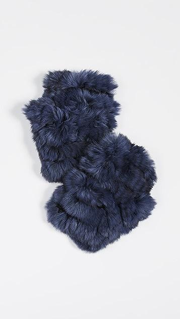 Jocelyn Mandy Fingerless Fur Mittens
