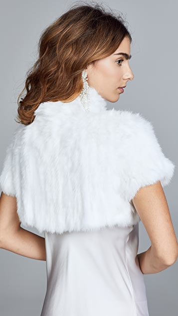 Jocelyn Felicity Rabbit Fur Shrug