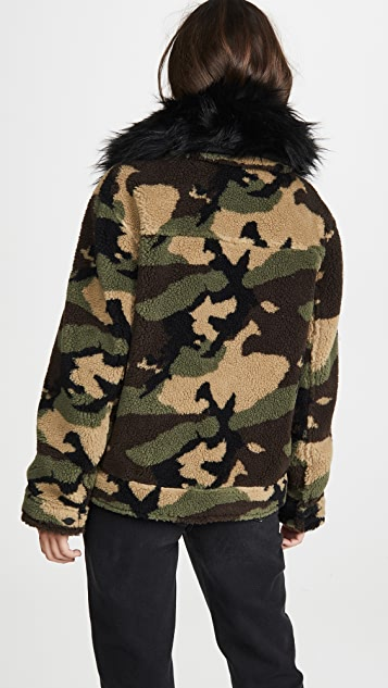 Jocelyn Camo Teddy Jacket