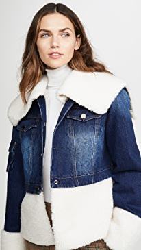You Can't Deny Me Denim & Faux Sherpa Jacket