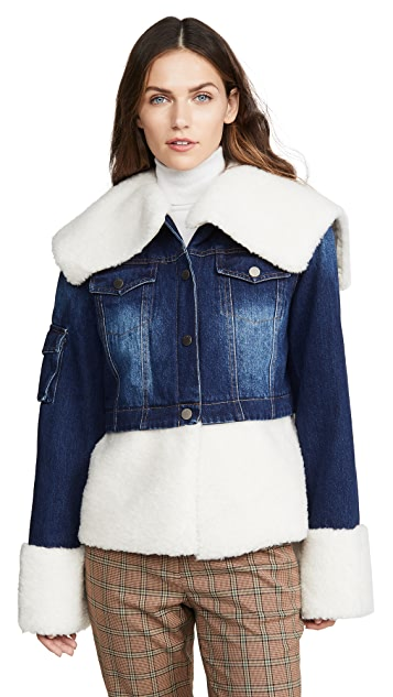 Jocelyn You Can't Deny Me Denim & Faux Sherpa Jacket