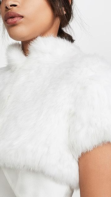 Jocelyn Накидка на плечи Felicity из длинноворсового кроличьего меха