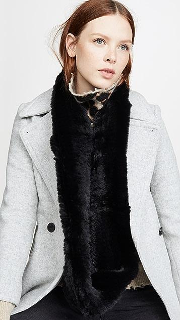 Jocelyn 纯色獭兔毛针织绕脖围巾