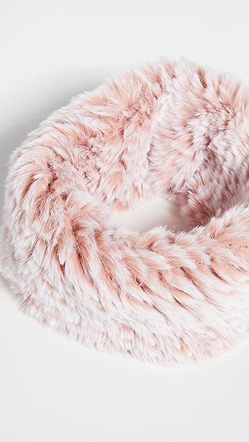 Jocelyn Snowtop Knitted Faux Fur Stretch Cowl Scarf