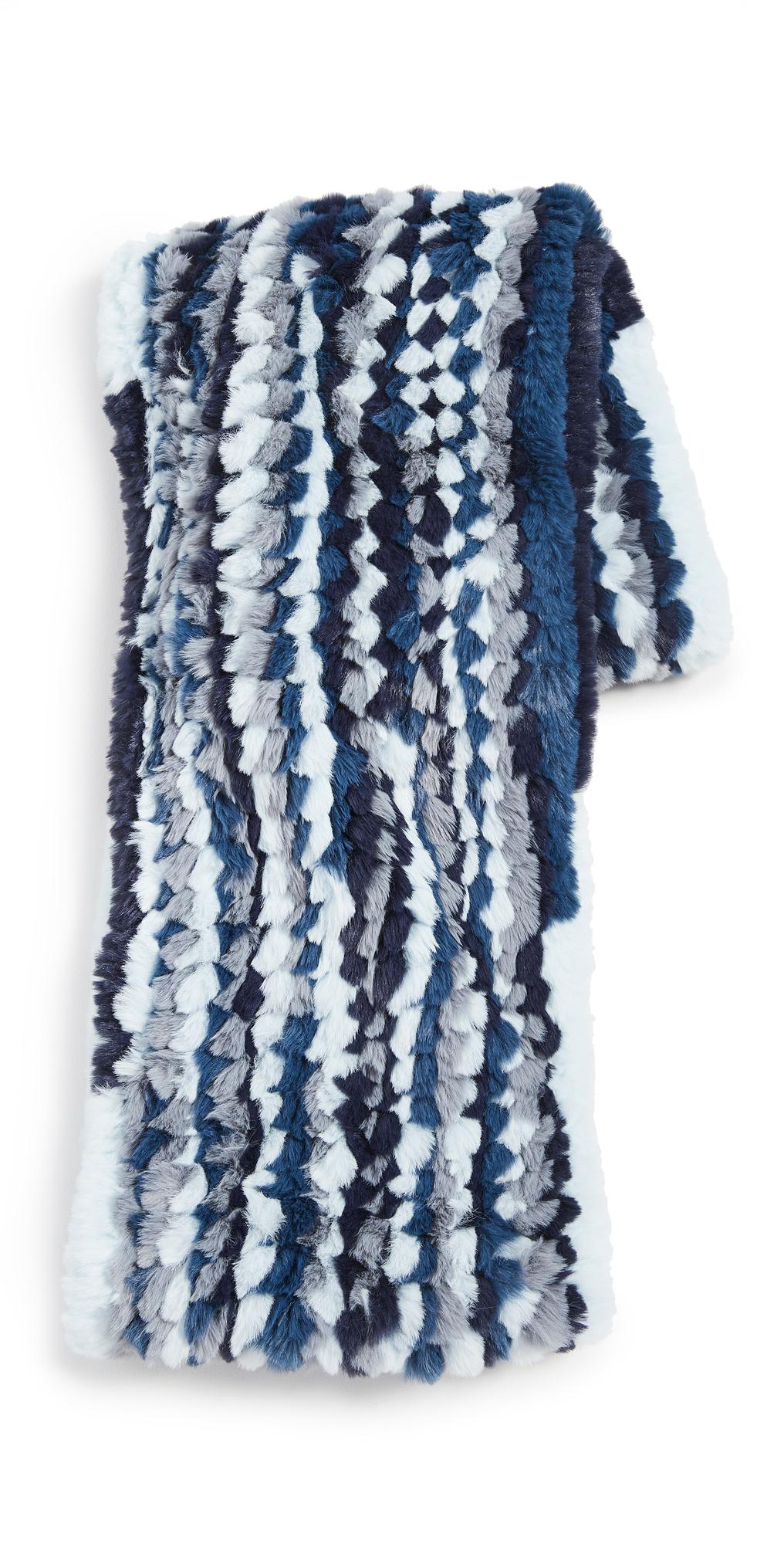 Jocelyn Multi Knitted Faux Fur Infinity Scarf