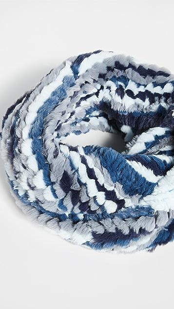 Jocelyn 多色针织仿皮毛绕脖围巾