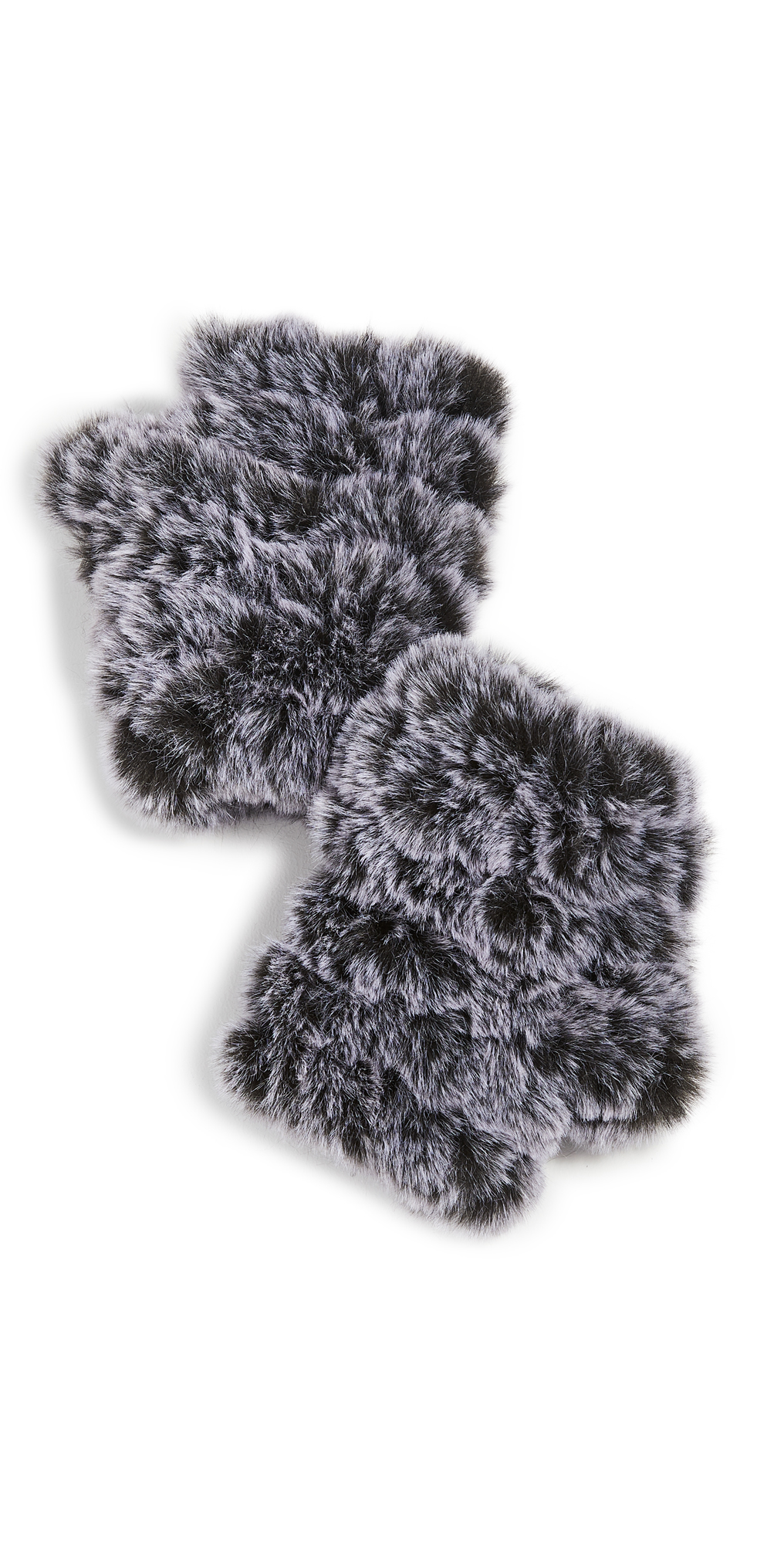 Snowtop Faux Fur Knitted Mandy Mittens