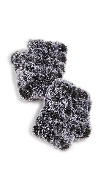 Jocelyn Snowtop Faux Fur Knitted Mandy Mittens