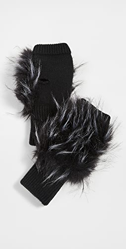 Jocelyn - Long Hair Faux Fur Texty Time Mitten