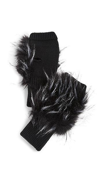 Jocelyn Long Hair Faux Fur Texty Time Mitten