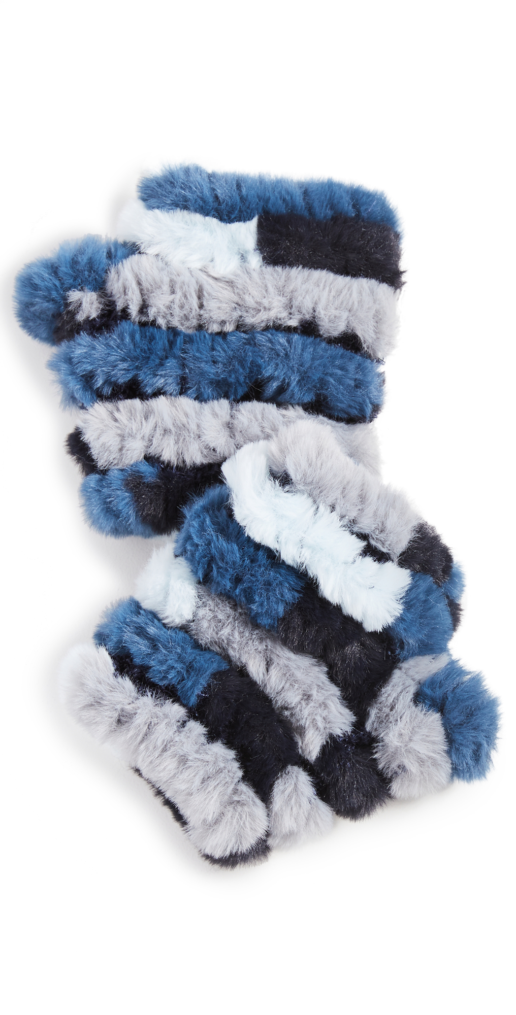 Multi Faux Fur Knitted Mandy Mittens