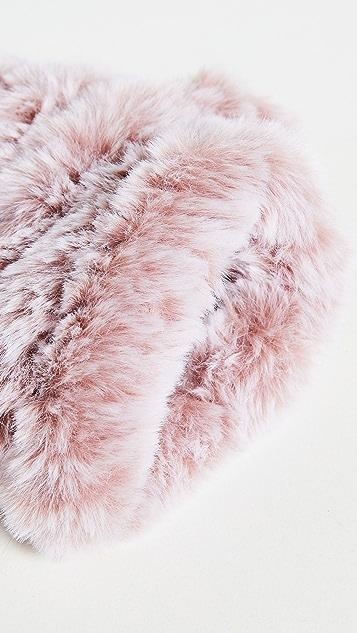 Jocelyn Knitted Faux Fur Mandy Mittens