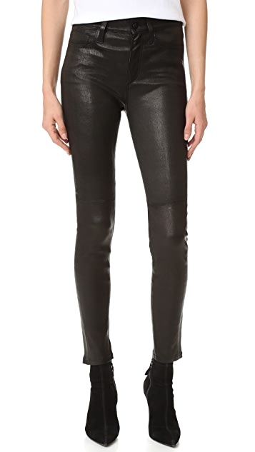 Joe's Jeans Charlie Leather Ankle Jeans
