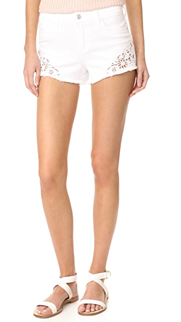 Joe's Jeans Cutoff Shorts with Embroidery