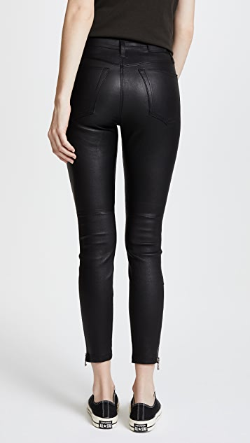 Joe's Jeans Charlie Ankle Leather Pants