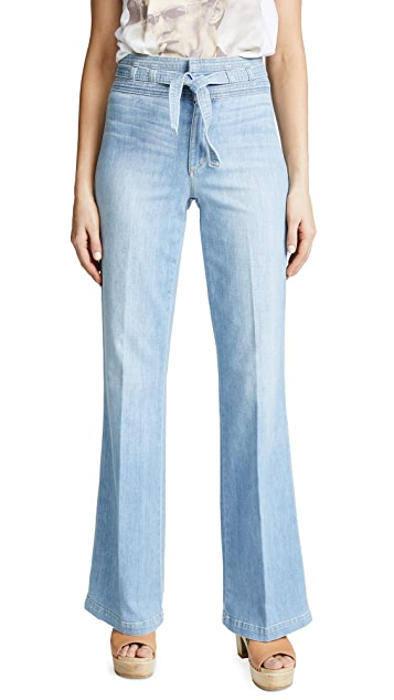Joe's Jeans High Rise Belted Flare Jeans