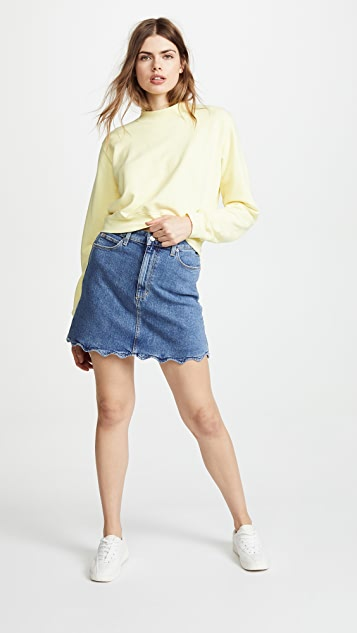 Joe's Jeans Bella Skirt with Wavy Hem