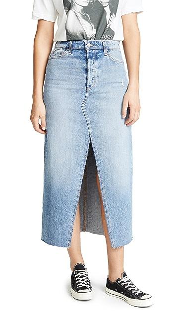 Joe's Jeans Elliza Long Denim Skirt