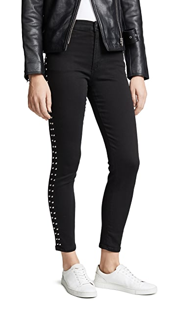 Joe's Jeans The Charlie Ankle Studded Skinny Jeans