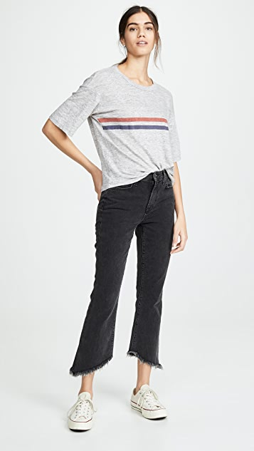 Joe's Jeans Callie Cropped Bootcut Jeans with Frayed Hem