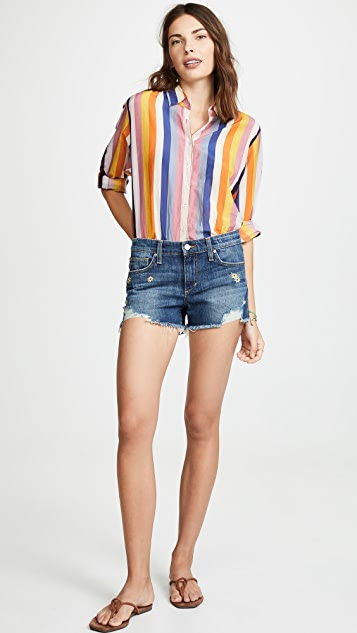 Joe's Jeans Embroidered Cutoff Shorts