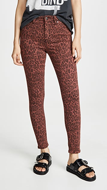 Joe's Jeans The Charlie Leopard Skinny Jeans