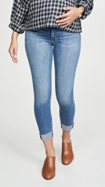 The Icon Raw Cuff Maternity Jeans