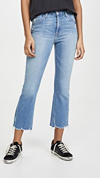 The Hi Honey Crop Boot Destroyed Jeans