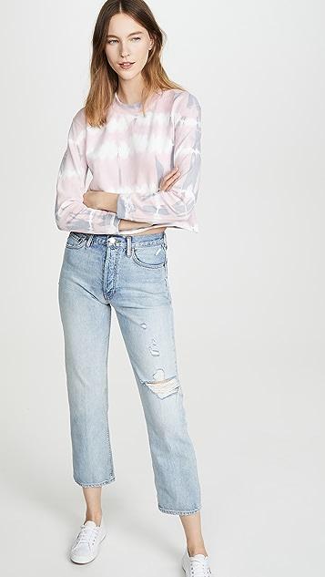 Joe's Jeans 扎染短款运动衫