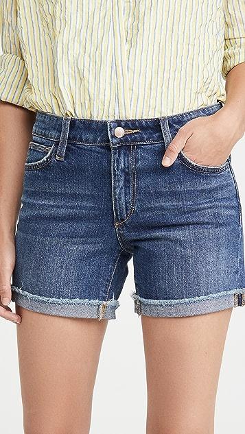 Joe's 牛仔裤 翻边超短裤