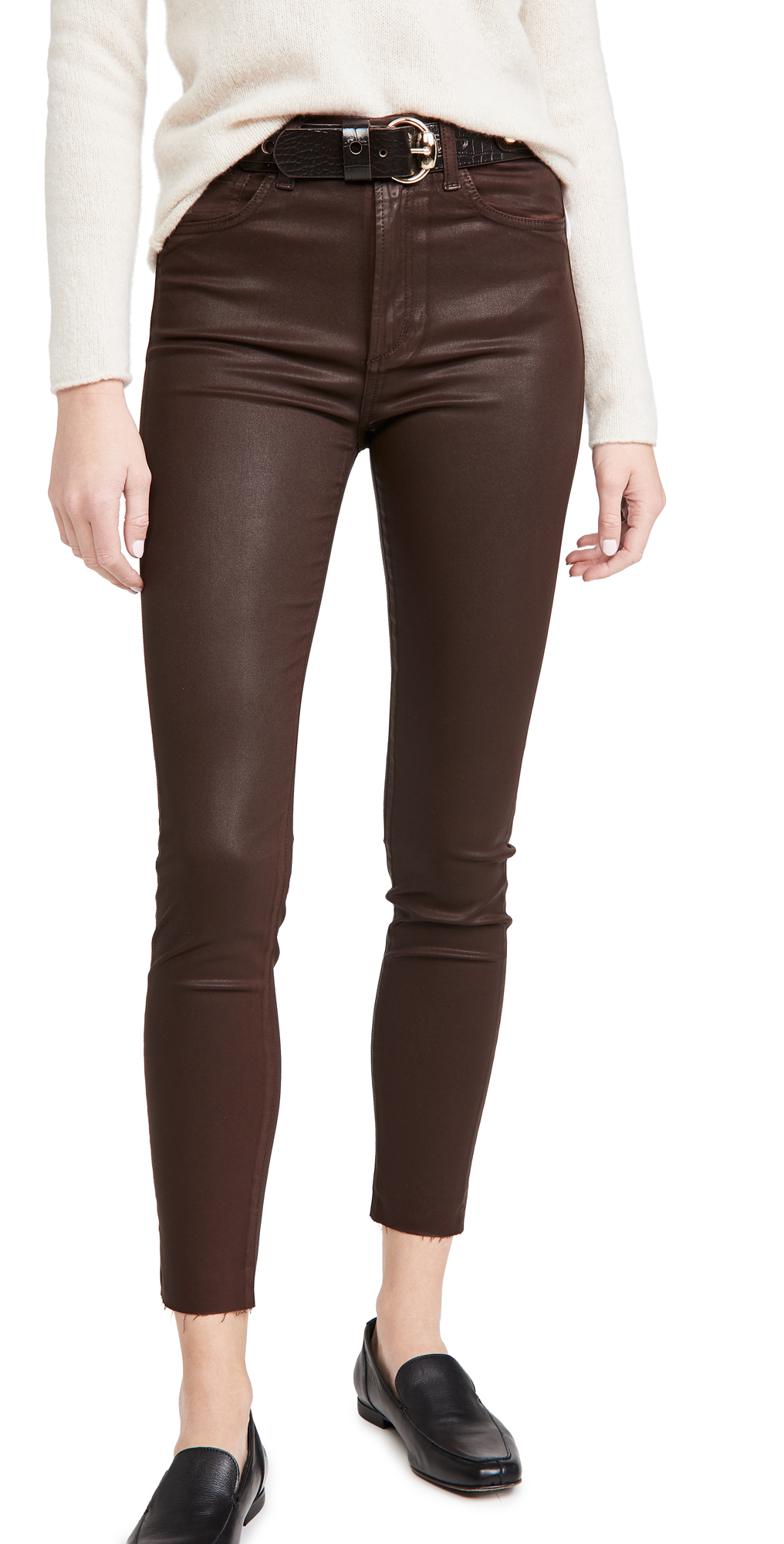 Joe's Jeans The Charlie Ankle Coated Skinny Jeans
