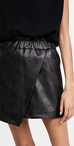 Joe's Jeans - Faux Leather Wrap Mini Skirt