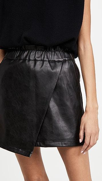 Joe's Jeans Faux Leather Wrap Mini Skirt