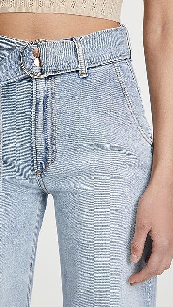 Joe's Jeans The Belted Wide Leg Jeans