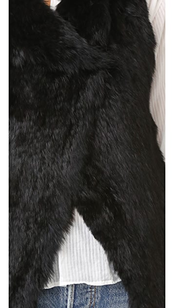 Joie Adoni Rabbit Fur Vest