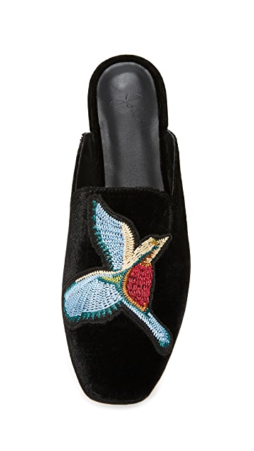 Joie Jean Embroidered Mules