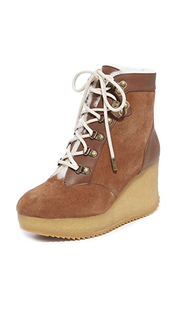 Joie Alary Wedge Hiker Booties